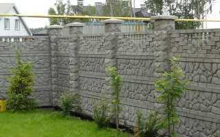 Бетонный забор своими руками формы