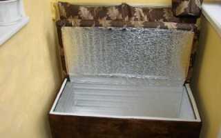 Как сделать на балконе зимний погреб