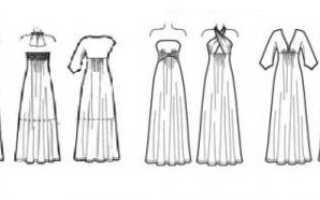 Белое платье в пол с рукавами своими руками