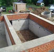 Фундамент своими руками с подвалом для кирпичного дома