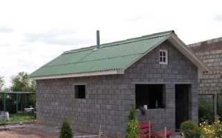 Баня из блоков как делать крышу