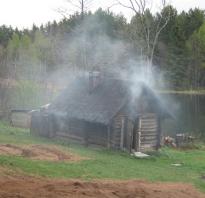 Строим печь для бани по черному