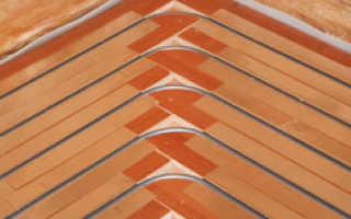Сухая стяжка для теплого водяного пола в деревянном доме