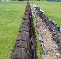 Чем копать траншею для водопровода на даче