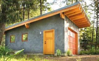 Баня как построить односкатную крышу своими руками