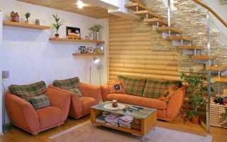 Варианты отделки потолка в деревянном доме своими руками