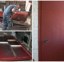 Чем обклеить входную металлическую дверь