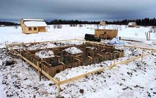Фундамент своими руками зимой для дома