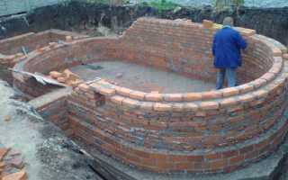 Из какого кирпича строить бассейн