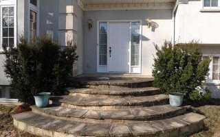 Как сделать лестницу на крыльцо из бетона полукруглое своими руками