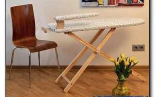 Сделать своими руками гладильную доску встроенную в стену