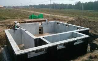 Фундамент своими руками для дома из кирпича с подвалом