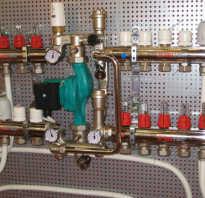 Схема монтажа насосно смесительного узла для теплого пола