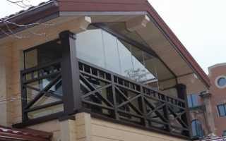 Отделка закрытого балкона в частном доме