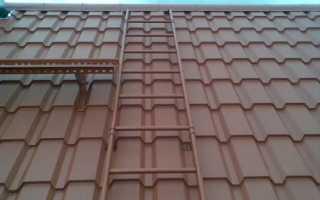Как сделать лестницу на крышу из металлочерепицы своими руками