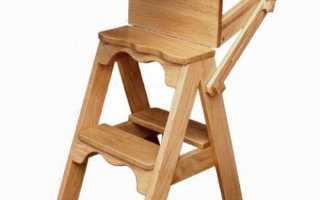 Как сделать лестницу стул своими руками схемы
