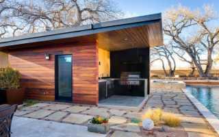 Баня беседка барбекю под одной крышей с мансардой