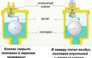Автоматические воздухоотводчики в системе отопления частного дома