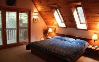 Балконная дверь с окном мансарда