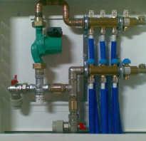 Схема движения воды в коллекторе теплого пола