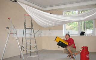 Что нужно чтобы натянуть натяжной потолок своими руками