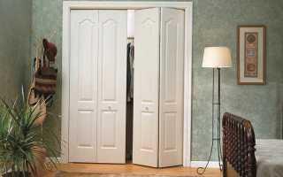 Установка складной двери своими руками