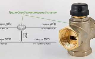 Схема подключение водяного теплого пола самое простое