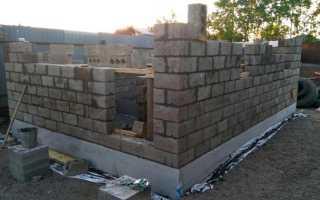Баня из керамзитных блоков крыша