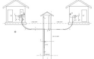 Водопровод для дома и бани из одного колодца