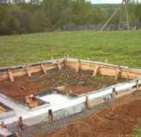 Строим фундамент для печи в баню