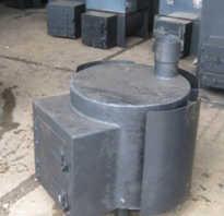 Сделать печь для бани из трубы большого диаметра своими руками