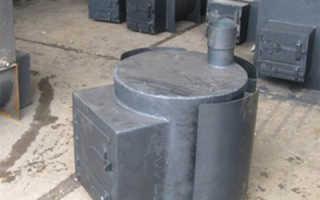 Баня с железной печью из трубы