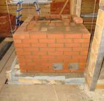 Строительство бани фундамент под печь
