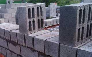 Баня из керамзитобетонных блоков односкатная крыша