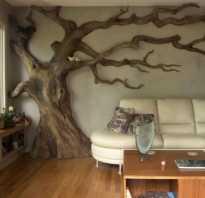 Дерево на стене своими руками в интерьере