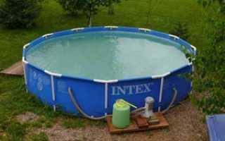 Бассейн intex как заклеить каркасный бассейн
