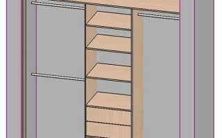 Встроенный шкаф купе от пола до потолка своими руками