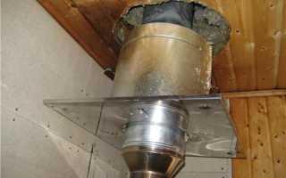 Баня разделка трубы на крыше