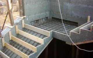 Как сделать лестницу на улице из бетона своими руками