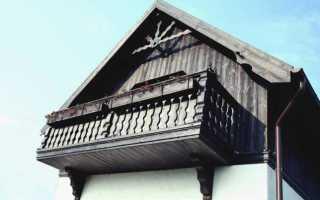 Балкон для деревянного дома своими руками