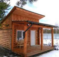 Современная баня с односкатной крышей