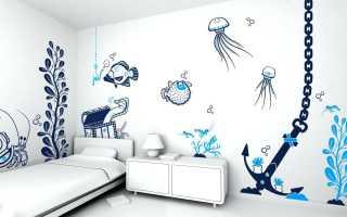 Трафареты для рисунков на стене по покраске своими руками