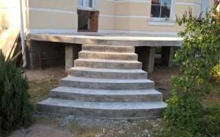 Бетонная лестница для улицы своими руками