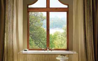 Ванная комната с окном в частном вентиляция