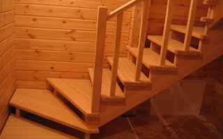Бюджетная лестница на второй этаж своими руками