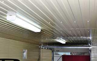Бюджетный потолок в гараже своими руками
