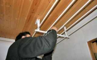 Веревка для белья на лоджии своими руками