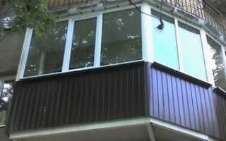 Обшивка балкона хрущевки профнастилом своими руками