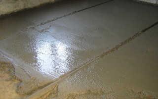 Стяжка пола цементно песчаным раствором своими руками