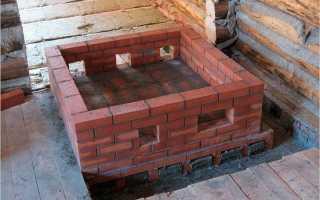 Сделать кирпичную печь каменку для бани
